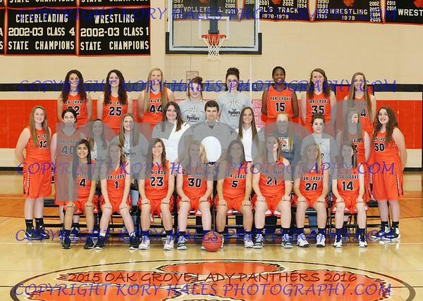 2015-2016 OGHS Girls Basketball