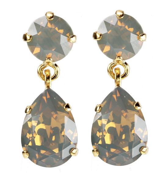 Mini Drop Earrings / Sand Opal