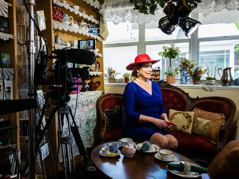 Behind the scenes of of Duchess Training with Leslie Streeter and etiquette expert Sherry Thomas at Serenity Tea Garden in West Palm Beach on Friday, June 1, 2018. (Joseph Forzano / The Palm Beach Post)