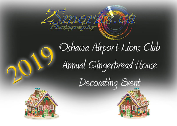 Oshawa Airport Lions Gingerbread House Decorating and Santa Pictures 2019