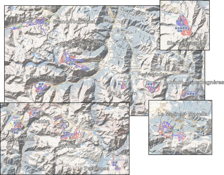 Comparativa de tamaño estaciones vs Saint-Lary