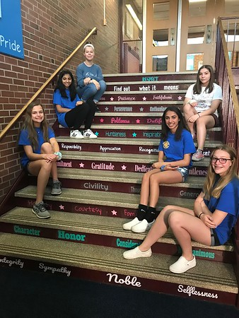 Staircase and Students
