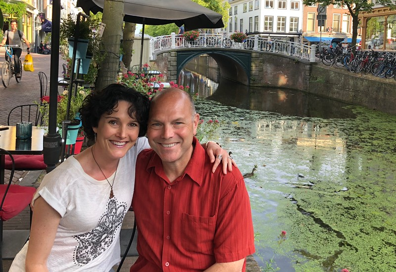 Last night of the trip, a lovely dinner along the quaint canals of Delft
