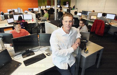 Adriaan van Wyk, chief executive officer of K2, is pictured  in his company's headquarters in Bellevue, Washington