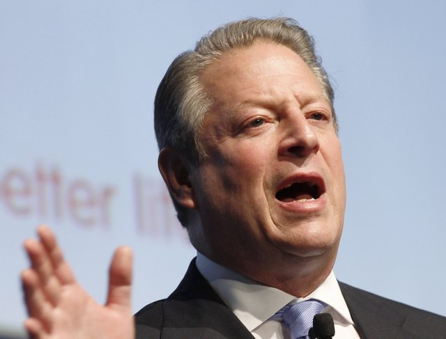 """. <p><b> Former Vice President Al Gore, with little fanfare, revealed that he started doing this a few months ago � </b> <p> A. Switching to a vegan diet <p> B. Switching to an electric car <p> C. Switching to sex-free massages <p><b><a href=\'http://www.washingtonpost.com/blogs/post-politics/wp/2013/11/25/al-gore-goes-vegan-with-little-fanfare/\' target=\""""_blank\"""">HUH?</a></b> <p>    (AP Photo/Luca Bruno, File)"""