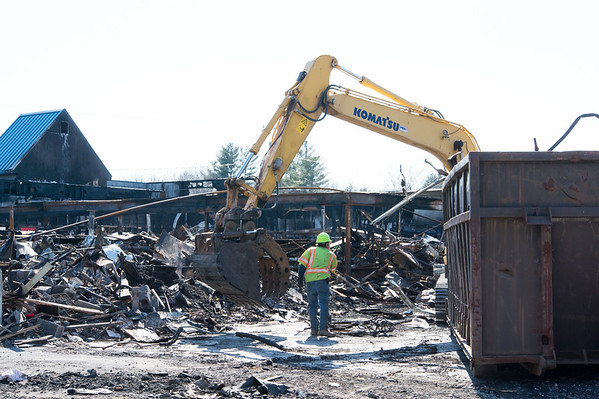 04/03/19 Wesley Bunnell | Staff Demolition is taking place at the former Tops IGA Supermarket at 887 Meriden-Waterbury Turnpike which was destroyed by fire one month ago on March 3rd.