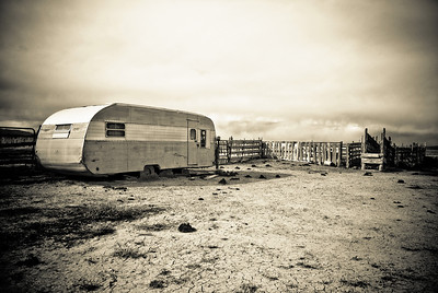 Old Sheep Corral in Sepia