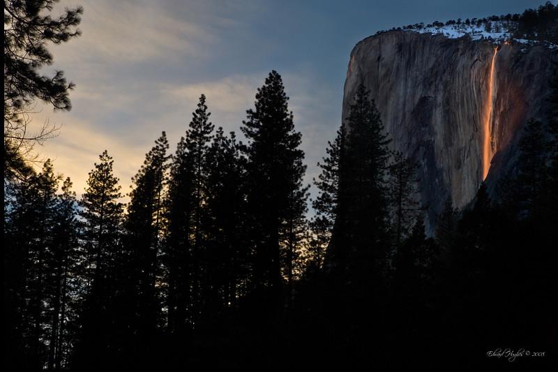 Horsetail Falls Yosemite Feb. 2008