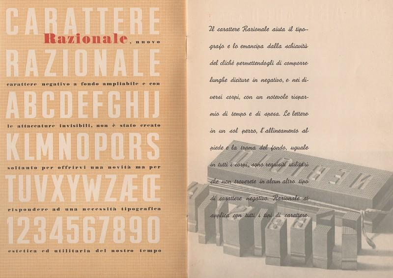 Prospectus of Razionale (1935).