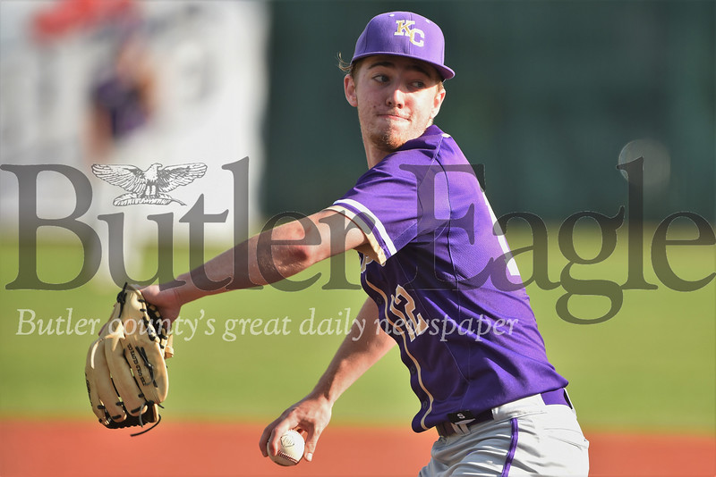 Karns City starting pitcher Steve O'Donnell. Seb Foltz/Butler Eagle