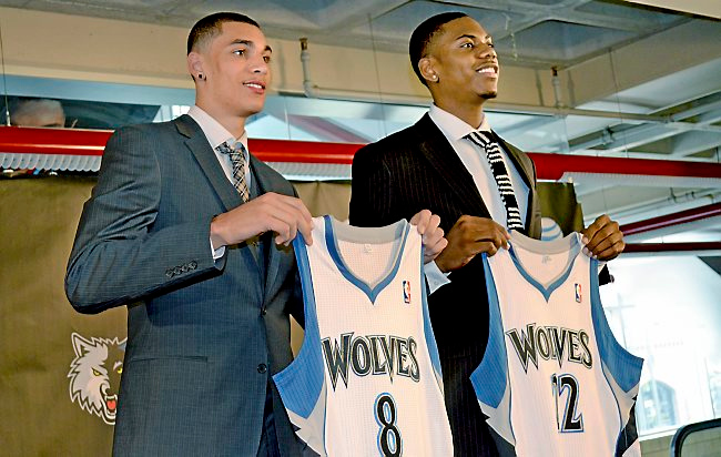". 14. ZACH LaVINE <p>We�re guessing Mr. Eff Me�s time with Timberwolves will both begin and end with profanity.  <p><b><a href=\'http://thebiglead.com/2014/06/26/did-zach-lavine-say-eff-me-when-he-was-picked-by-minnesota/\' target=""_blank\""> LINK </a></b> <p>    (Pioneer Press: Andy Greder)"