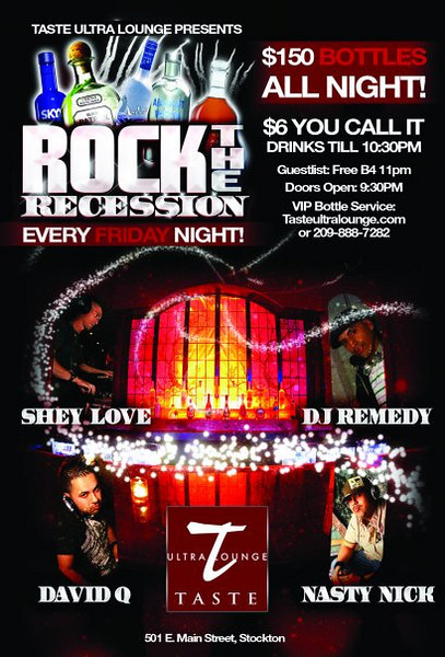 Rock The Recession @ Taste Ultra Lounge 12.11.09