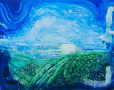 """Elysian Intuition"" (acrylic on canvas) by Serena May Yin Ho"