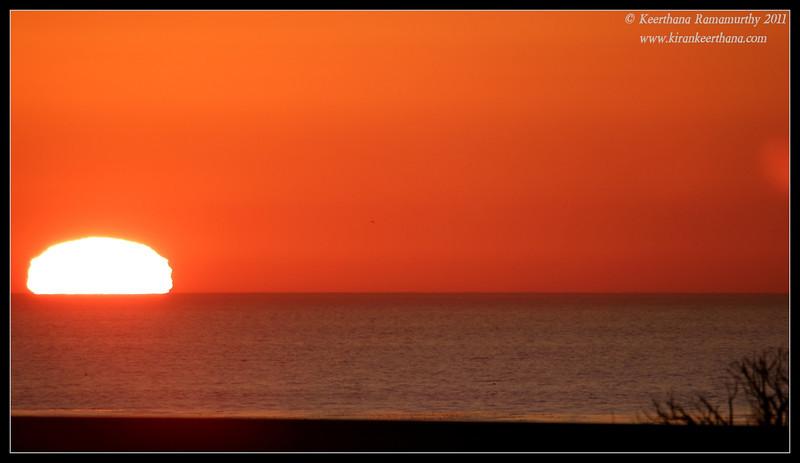 Sunset seen from San Elijo Lagoon, Rios Ave, San Diego County, California, December 2011