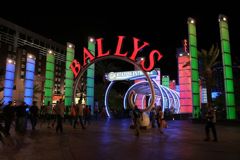Bally's hotel entrance in Las Vegas