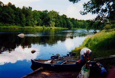 Canoe Trip with Robert down the Flambeau River  in Wisconsin