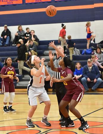 Delmar Middle Girls Basketball vs Milford