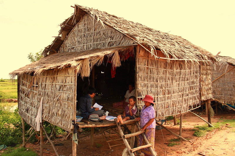 The first patient's home about 15km out of Siem Reap