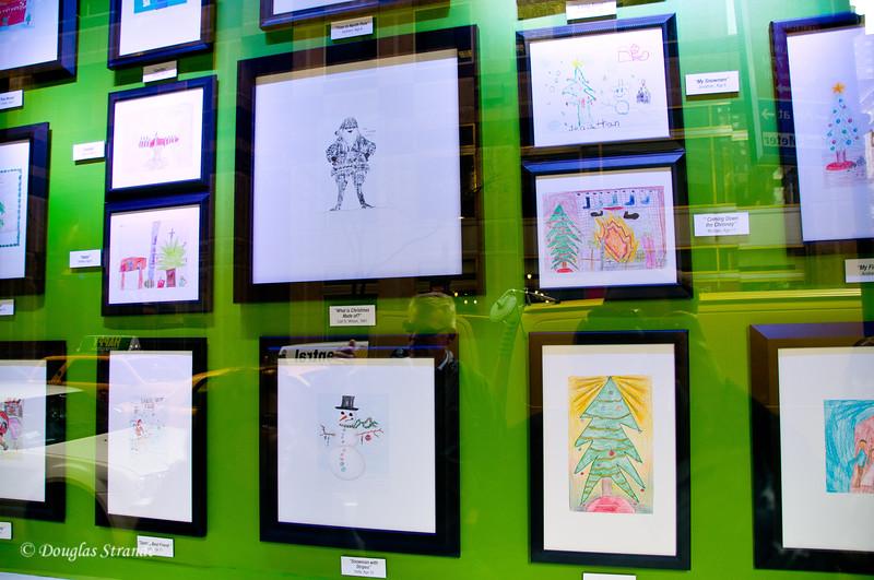 Macy*s Window with Children's Art