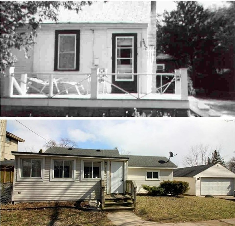 . 2942 Wesson Street in 1960 and today, Photo courtesy of Martha Randall.