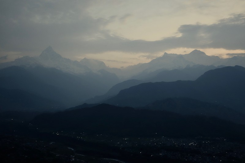 Pokhara, before sunrise from Sarangkot
