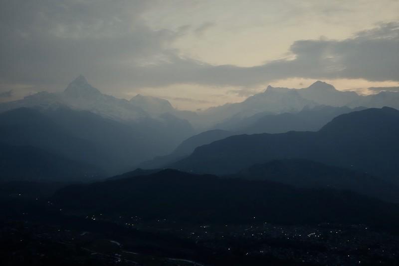 Pokhara, before sunrise from Sarangkot