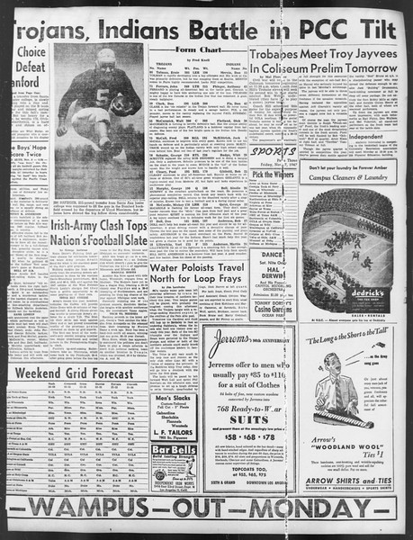 Daily Trojan, Vol. 39, No. 39, November 07, 1947