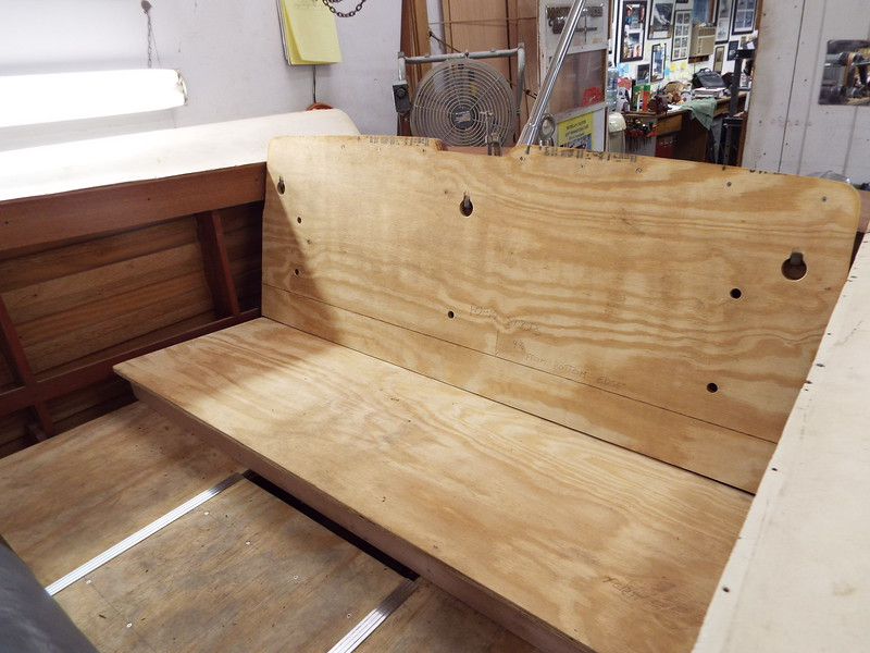 seat built and fit to the boat.