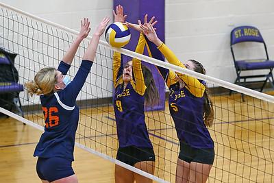 St. Rose vs Trinity Hall girls volleyball