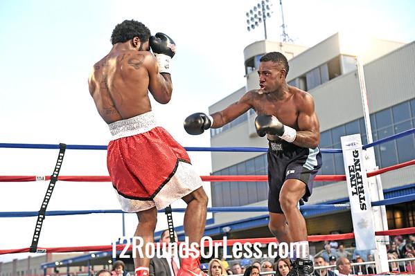 Bout 7 Wesley Tucker, Red trunks, Toledo, OH -vs- Deartie Tucker, Navy trunks, Fort Smith, AK, Welterweight