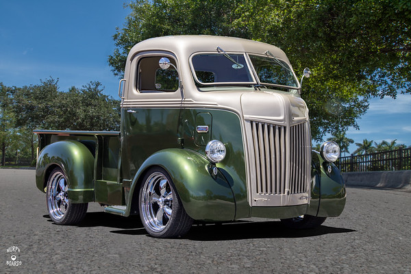1942 Ford Cab Over Pickup Green_Silver Bob Lerose