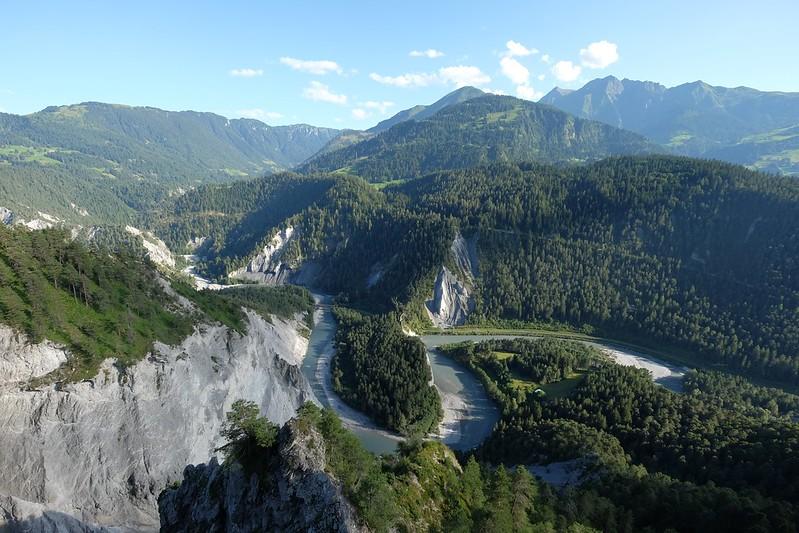 Rheinschlucht von Il Spir aus