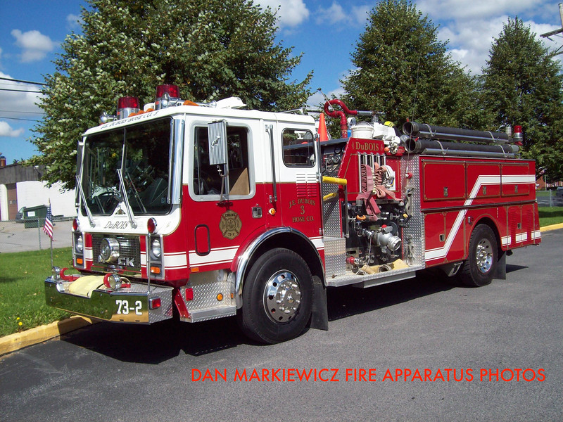 JE DUBOIS HOSE CO. DUBOIS ENGINE 73-2 1983 MACK PUMPER