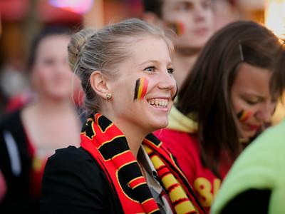 Brazil 2014 Belgium-USA Lokeren ambiance