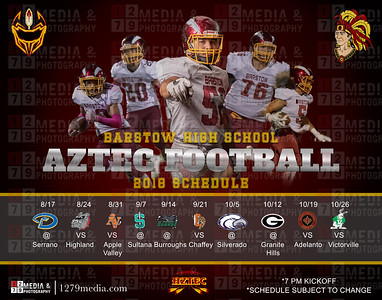 2018 BHS Aztec Varsity Football Schedule