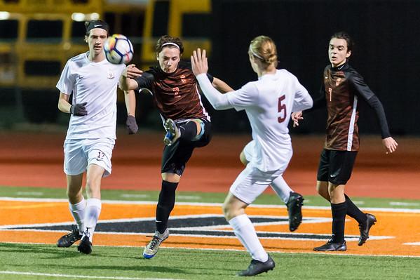 Roseville High School Varsity Boys Soccer vs Woodcreek 1-18-19