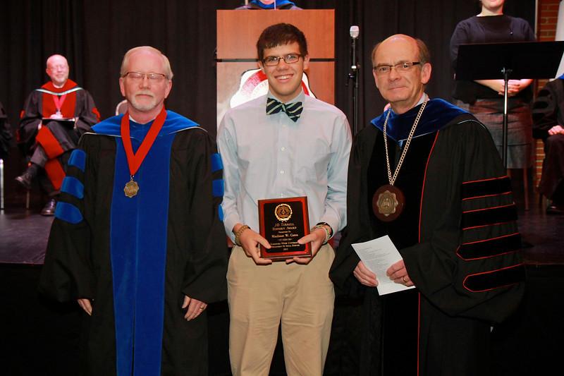 58th Academic Awards Day; April 30, 2013. J.O. Terrell History Award