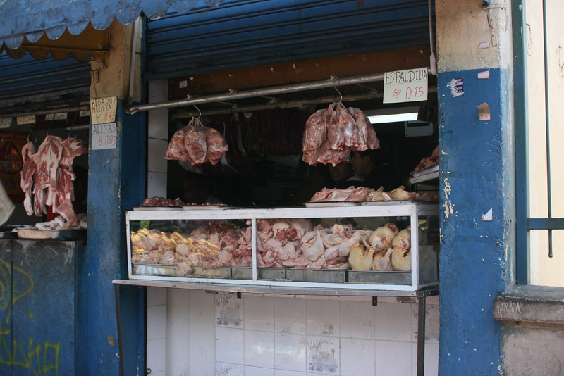Poultry at the market in Quito