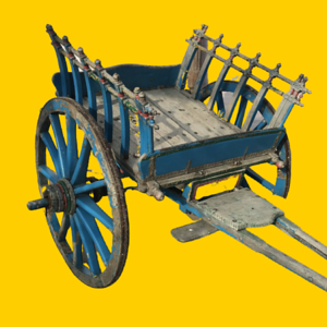 Blue Indian Cart