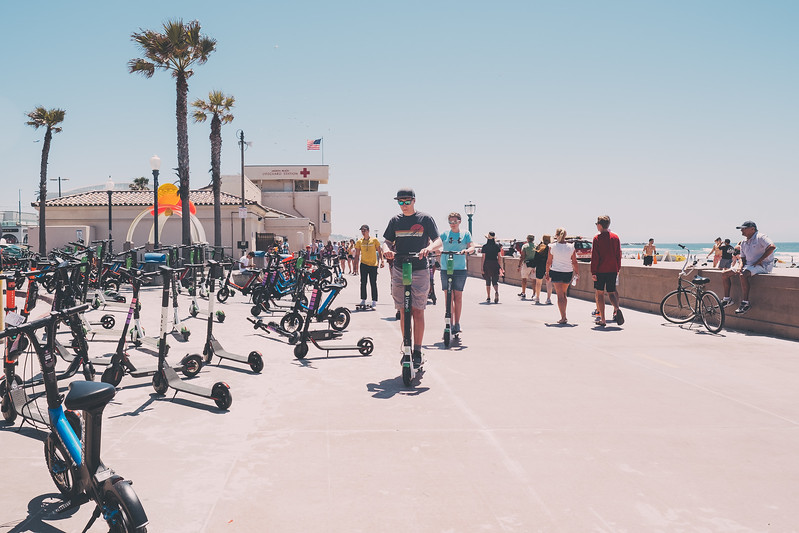 Scooters at Mission Beach, San Diego