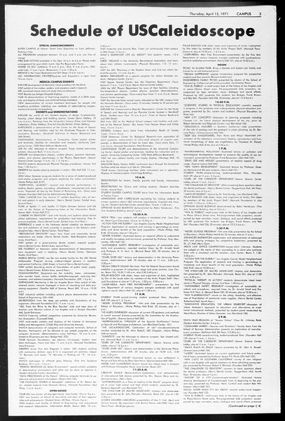 Daily Trojan, Vol. 62, No. 104, April 15, 1971