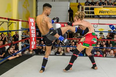 Amedeo Conta v Deterriace Dixon at Muay Thai Fight Night
