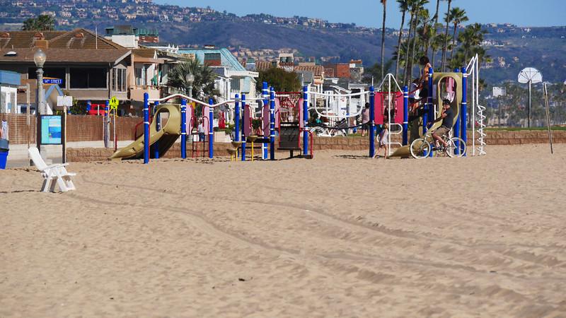 Playground on the beach at Newport Elementary.