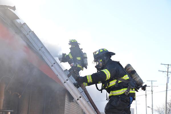 Dearborn - Schaefer road- Commercial Building fire