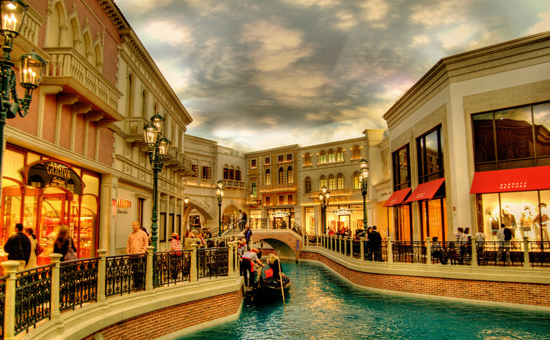 The Grand Canal Shoppes and Gondola Ride at the Venetian Resort and Hotel, Las Vegas, Nevada