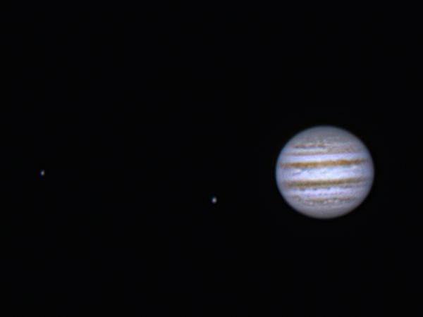 Europa, Io and Jupiter