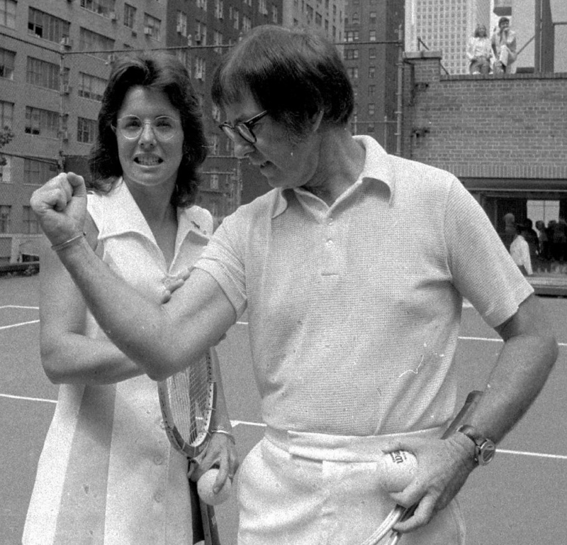 ". <p>9. BOBBY RIGGS & BILLIE JEAN KING  <p>Forty years ago, a landmark moment in the history of fixed sports. (unranked) <p><b><a href=\'http://espn.go.com/espn/feature/story/_/id/9589625/the-match-maker\' target=""_blank\""> HUH?</a></b> <p>    (AP Photo)"