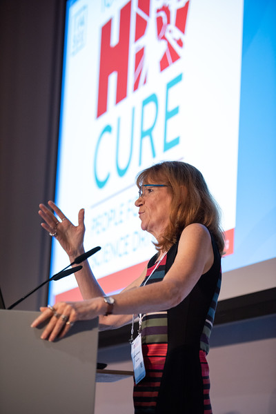 22nd International AIDS Conference (AIDS 2018) Amsterdam, Netherlands.   Copyright: Steve Forrest/Workers' Photos/ IAS  Photo shows: Caroline Tiemessen, NICD, South Africa, speaking on HIV Cure, Treatment Interruptions as a test-of-cure or to achieve post treatment control: a necessary evil?