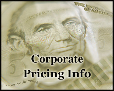 Corporate, Conference & Corp. Event Pricing