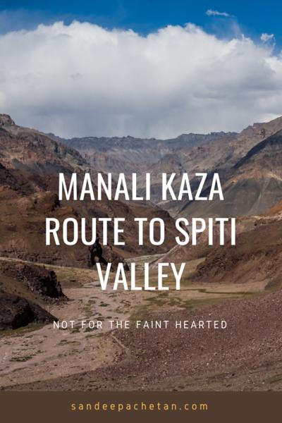 Manali to Kaza route to Spiti valley
